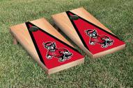 North Carolina State Wolfpack Hardcourt Triangle Cornhole Game Set