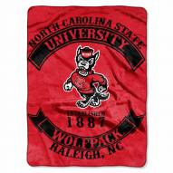 North Carolina State Wolfpack Rebel Raschel Throw Blanket