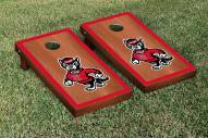 North Carolina State Wolfpack Rosewood Stained Border Cornhole Game Set