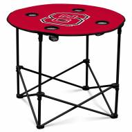 North Carolina State Wolfpack Round Folding Table