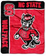 North Carolina State Wolfpack School Spirit Raschel Throw Blanket