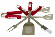North Carolina State Wolfpack NCAA 4-Piece Stainless Steel BBQ Set