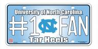North Carolina Tar Heels #1 Fan License Plate