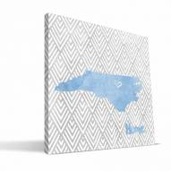 "North Carolina Tar Heels 12"""" x 12"""" Home Canvas Print"