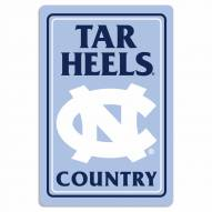 "North Carolina Tar Heels 12"" x 18"" Metal Sign"
