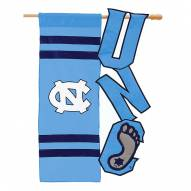 "North Carolina Tar Heels 28"" x 44"" Applique Flag"