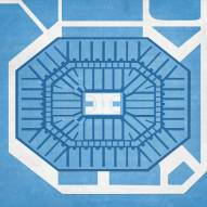 North Carolina Tar Heels Basketball Arena Print