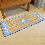 North Carolina Tar Heels Basketball Court Runner Rug