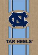 North Carolina Tar Heels Burlap Flag
