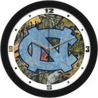 North Carolina Tar Heels Camo Wall Clock
