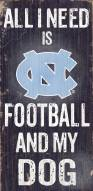 North Carolina Tar Heels Football & Dog Wood Sign