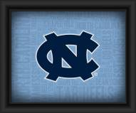 North Carolina Tar Heels Framed Word Cloud