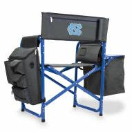 North Carolina Tar Heels Gray/Blue Fusion Folding Chair
