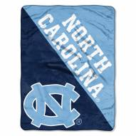 North Carolina Tar Heels Halftone Raschel Blanket