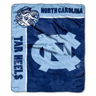 North Carolina Tar Heels Jersey Mesh Raschel Throw Blanket