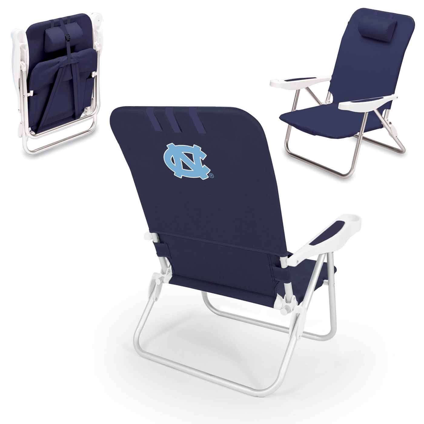 North Carolina Tar Heels Navy Monaco Beach Chair