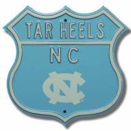North Carolina Tar Heels NCAA Embossed Route Sign