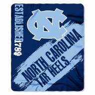 North Carolina Tar Heels Painted Fleece Blanket