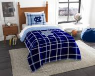 North Carolina Tar Heels Plaid Twin Comforter Set