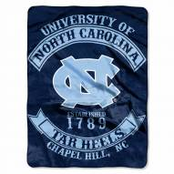 North Carolina Tar Heels Rebel Raschel Throw Blanket