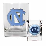 North Carolina Tar Heels Rocks Glass & Shot Glass Set