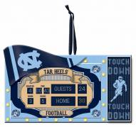 North Carolina Tar Heels Scoreboard Tree Ornament