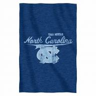 North Carolina Tar Heels Script Sweatshirt Throw Blanket