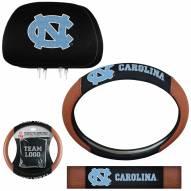 North Carolina Tar Heels Steering Wheel & Headrest Cover Set
