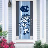 North Carolina Tar Heels Door Banner