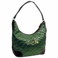 North Dakota State Bison Quilted Hobo Handbag