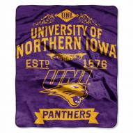 Northern Iowa Panthers Label Raschel Throw Blanket