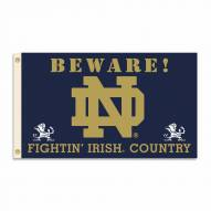 Notre Dame Fighting Irish 3' x 5' Beware Flag
