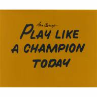 "Notre Dame Fighting Irish Ara Parseghian Play Like a Champion Today Signed 16"" x 20"" Photo"