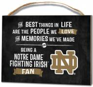 Notre Dame Fighting Irish Best Things Small Plaque