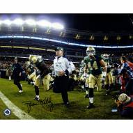 "Notre Dame Fighting Irish Brian Kelly Running On To The Field Signed 16"" x 20"" Photo"
