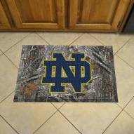 Notre Dame Fighting Irish Camo Scraper Door Mat