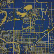 Notre Dame Fighting Irish Campus Map Print
