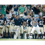 "Notre Dame Fighting Irish Charlie Weis Running Down Sidelines Signed 16"" x 20"" Photo"