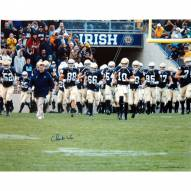 "Notre Dame Fighting Irish Charlie Weis Walking with Team on the Field Signed 16"" x 20"" Photo"