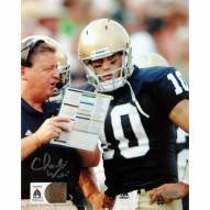 "Notre Dame Fighting Irish Charlie Weis with Brady Quinn Signed 16"" x 20"" Photo"