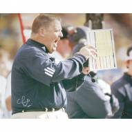 "Notre Dame Fighting Irish Charlie Weis Yelling from Sidelines Signed 16"" x 20"" Photo"