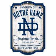 Notre Dame Fighting Irish College Vault Wood Sign