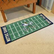 Notre Dame Fighting Irish Football Field Runner Rug