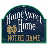 Notre Dame Fighting Irish Home Sweet Home Arched Wood Sign