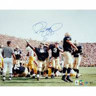 "Notre Dame Fighting Irish Jerome Bettis vs. Michigan Arms In Air Signed 16"" x 20"" Photo"