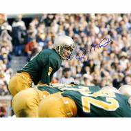 "Notre Dame Fighting Irish Joe Montana Notre Dame At Line Of Scrimmage Signed 16"" x 20"" Photo"