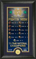 Notre Dame Fighting Irish Legacy Supreme Bronze Coin Panoramic Photo Mint