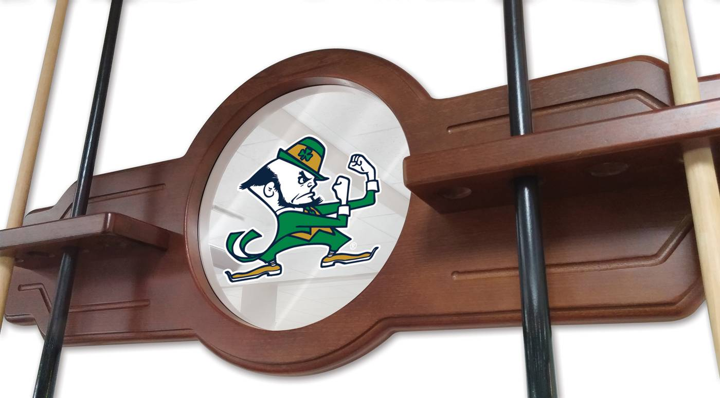 Notre Dame Fighting Irish Leprechaun Pool Cue Rack