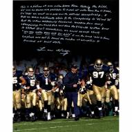 "Notre Dame Fighting Irish Lou Holtz Running out Notre Dame Tunnel Story Signed 16"" x 20"" Photo"