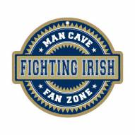 Notre Dame Fighting Irish Man Cave Fan Zone Wood Sign